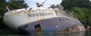 Το ναυάγιο του MS World Discoverer στα Νησιά Σολομώντα