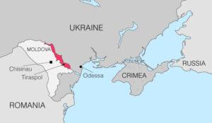 Ο χάρτης που βρίσκεται η Υπερδνειστερία