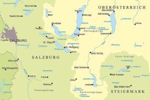 Χάρτης Salzkammergut