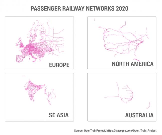 Σιδηροδρομικά δίκτυα ανά τον κόσμο