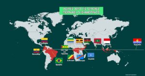 Χώρες που βρίσκονται στον ισημερινό