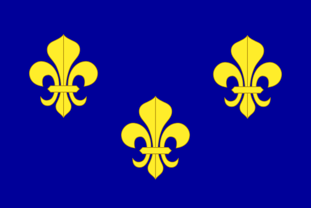 Η σημαία των Βουρβόνων της Γαλλίας που ήταν σε κοινή χρήση στα εδάφη της Νέας Γαλλίας (πηγή: Wikimedia Commons)