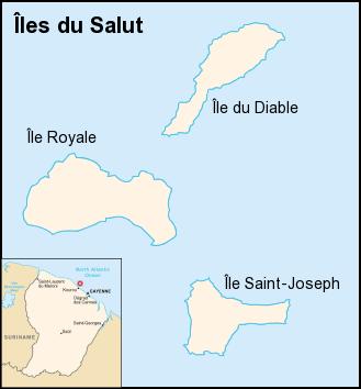 Χάρτης που βρίσκονται τα Νησιά της Σωτηρίας